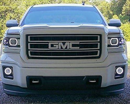 White Gmc Sierra >> Shop Vinyl Design Gmc Front Or Rear Emblem Overlay Kit Diy Denali Sierra Yukon Acadia Terrain 3m White Carbon Fiber Free Sheet
