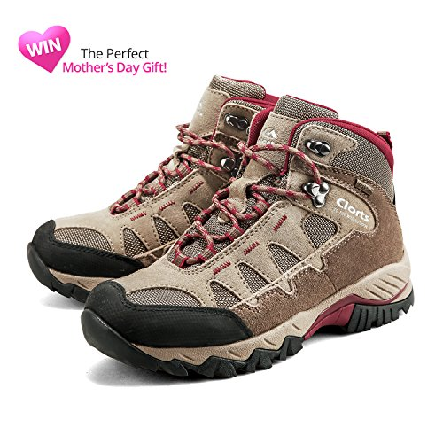 Waterproof GTX Outdoor Clorts Women's Khaki Hiking Suede Backpacking Boot Leather Shoe HKM823 SHntAIxn