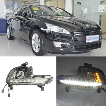 AupTech Peugeot 508 LED de coche luces de conducción diurna DRL luz diurna (1 par): Amazon.es: Coche y moto