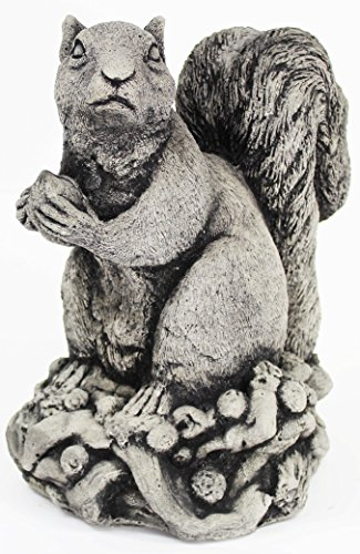 Cement Garden Sculpture - Big Squirrel Statue with Nut Home and Garden Statues Animal Figures Cement Sculpture
