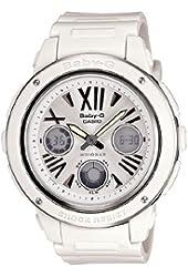 Casio Women's BGA152-7B1 Baby-G Baby-G Shock White Analog Watch