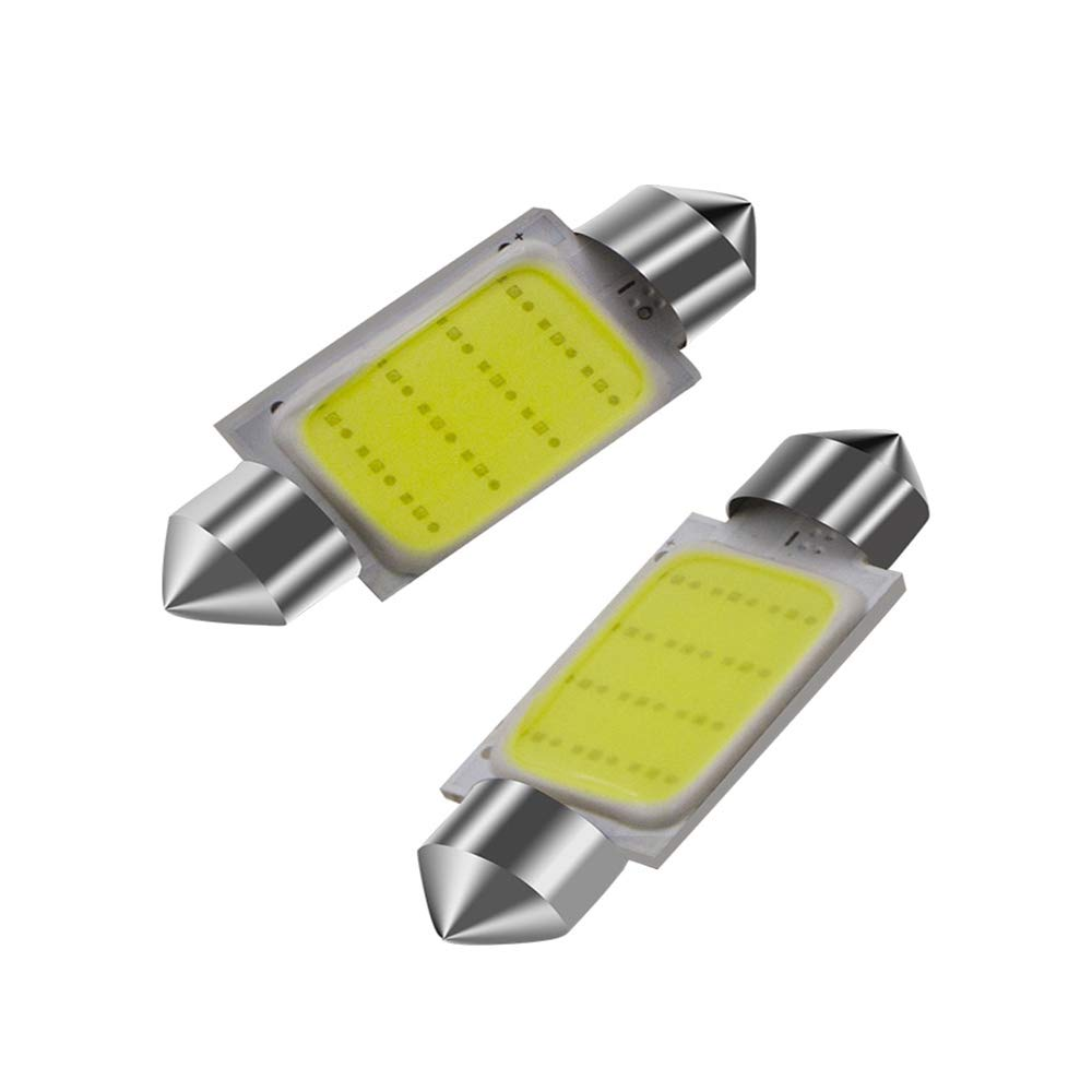 LED Festoon Bulb 3/LED 5050/SMD 36/mm SV8/Car License Plate Trunk ESS Tech/® Universal Lamp Cool White With Polarity Canbus
