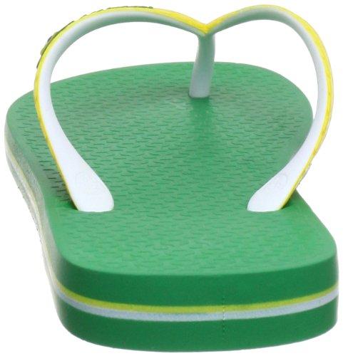 Ipanema Brazil Bicolor 81046 - Chanclas para mujer Verde (Grün (green/white/yellow 22979))