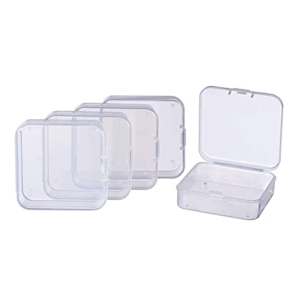 Contenitori In Plastica Pieghevoli.Benecreat 18 Pack Contenitori Di Plastica Trasparente Per