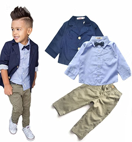 aile Rabbit Boys Gentleman Blazer + Shirt + Pants 3 Piece Suit Set