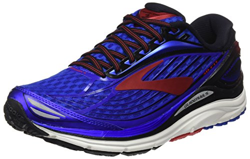 Brooks Men's Transcend 4 Electric Brooks Blue/Black/High Risk Red 9 D...