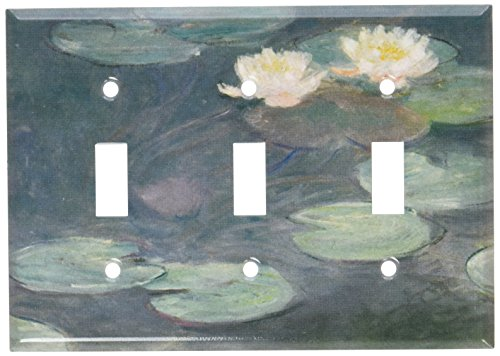 Art Plates - Monet: Water Lilies (Close-Up) Switch Plate - Triple Toggle