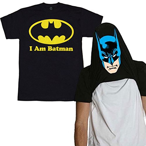I Am Batman Reversible Costume T-Shirt-XX-Large