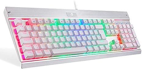 WUXXXRetroiluminación LED mecánica Puerto USB Teclado para ...