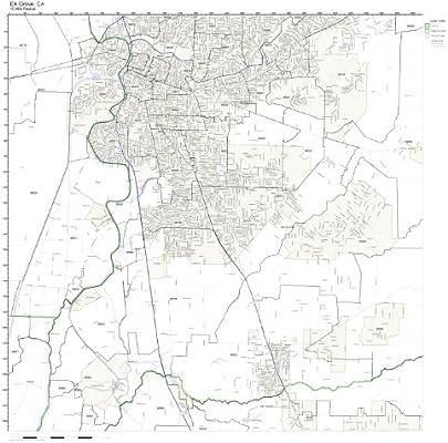 Amazon Com Elk Grove Ca Zip Code Map Laminated Home Kitchen