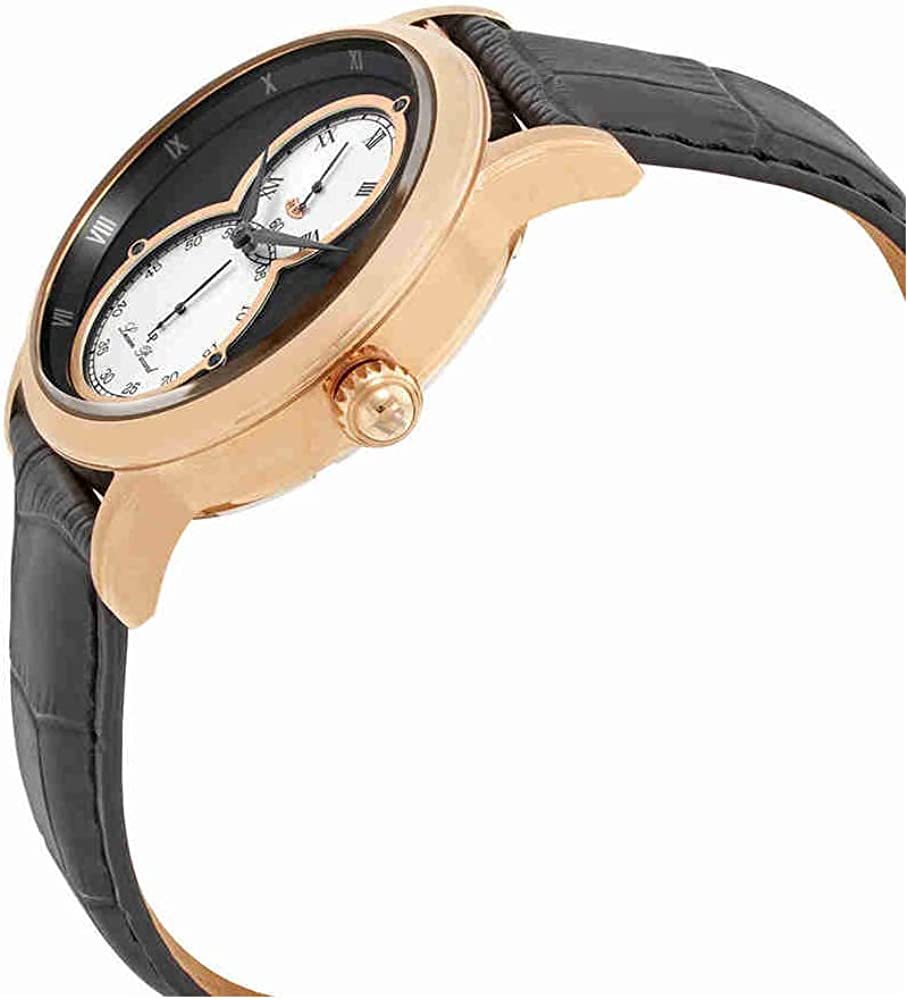 Lucien Piccard Men s Infinity Quartz Stainless Steel and Leather Watch, Color Black Model LP-40044-RG-01