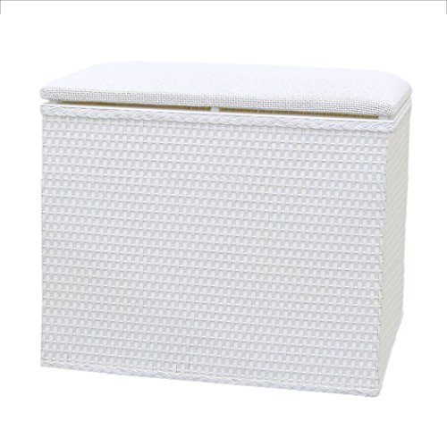 Lamont Limited Barrington Bench Hamper, 18.5 by 12.25-Inch, White - Paper Hamper Set