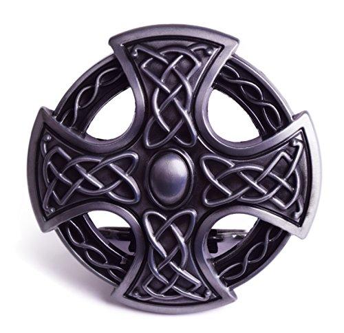 Silver Cross Celtic Endless Knot Braided Art Design Cowboy Belt Buckles (Knot Endless Design Celtic)