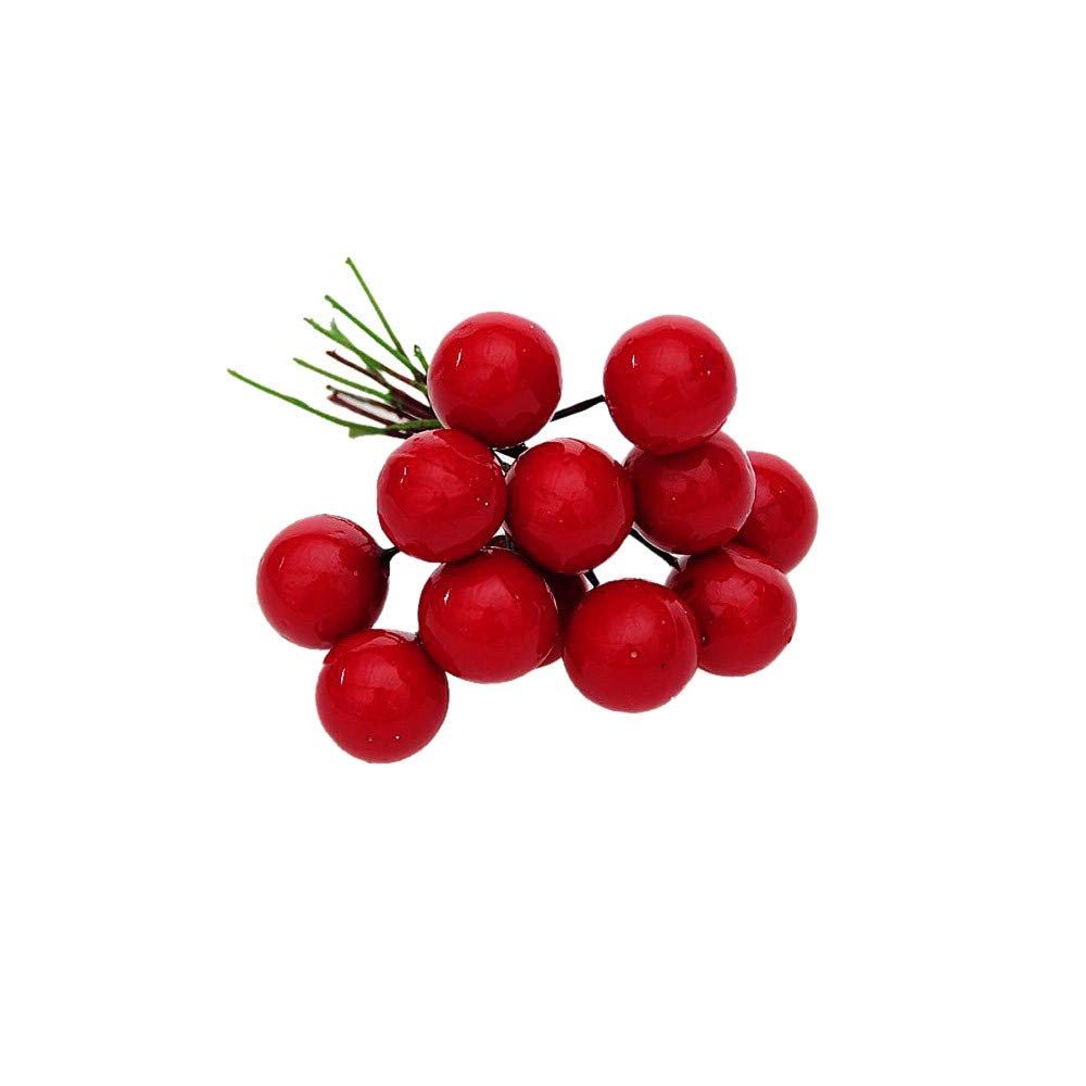 Christmas Tree Decorations Clearance,Jchen(TM) Merry Christmas 12Pcs Christmas Tree Decoration Simulation Cherry Christmas Decorative Pendant (Red)