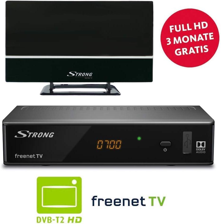 Strong SRT 8541 + SRT Ant 30 TV Set-Top Boxes Terrestre Alta Definición Total Negro - Reproductor/sintonizador (Terrestre, DVB-T2, PAL, 1920 x 1080 Pixeles, 576i,576p,720p,1080i,1080p, 4:3,16:9): Amazon.es: Electrónica