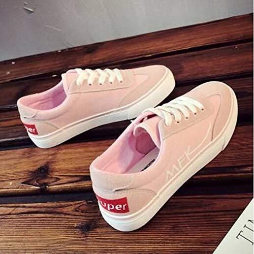 Blanco tacón Pink Zapatillas Plano de del ZHZNVX Primavera Rosa pie Dedo Negro Verano Comfort Zapatos Caucho Cerrado Mujer 8Rwnq6B