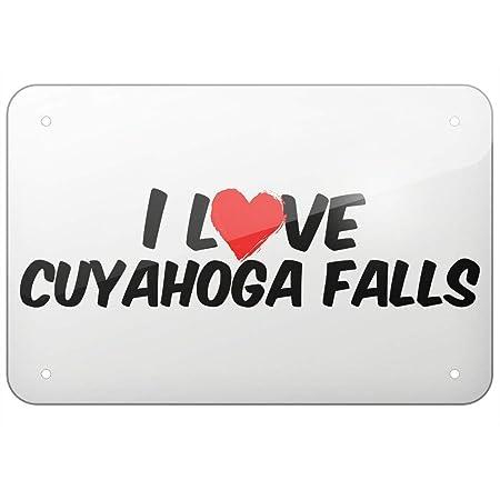 Bilingo Cartel de Metal con Texto en inglés I Love Cuyahoga ...