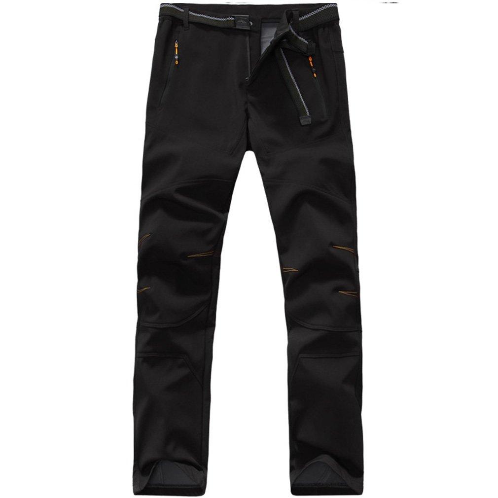 FLYGAGA Outdoor Hombre Cortavientos Softshell Forro Polar pantalón Impermeable Outdoor FLYGAGA Deporte Camping Senderismo Trekking – Pantalones d59e99