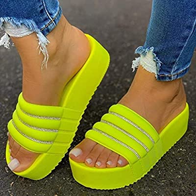 Platform Sandals for Women, Ulanda Women's Casual Fashion Ankle Strap Open Toe Strappy Sandals Summer Beach Shoes: Clothing