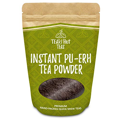 TEAki Hut Organic Instant Pu-erh Tea Powder (4 oz / 80 Servings) (Pack Powder Black Stick)