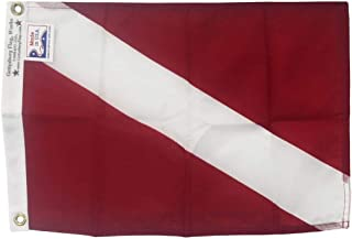 product image for 12X18 Skin Diver Boat Flag - Durable All-Weather Outdoor Nylon, Diver Down Made in USA
