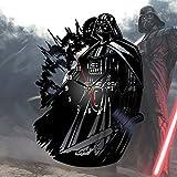 Darth Vader Star Wars Decor Fan Art Wall Clock Vintage Black Vinyl Gift Room Wedding Party