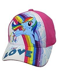 Hasbro Little Girls My Little Pony Rainbow DashCotton Baseball Cap, Age 4-7