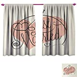 Best Greenland Home Home Fashion Pinks - Anniutwo Wedding Waterproof Window Curtain Stylized Hand Writing Review