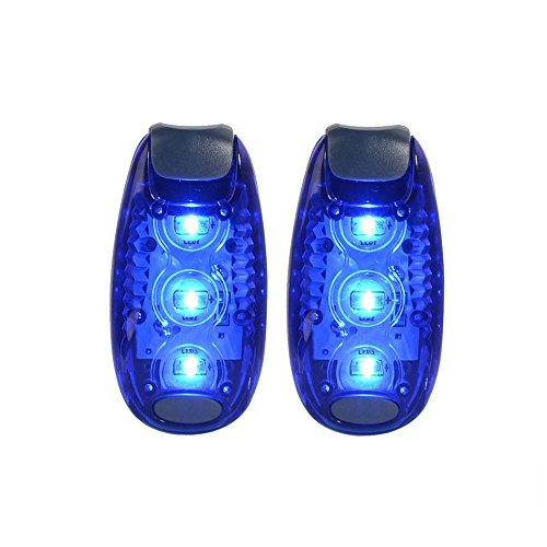 Xcellent Global 2 Pack LED Safety Light -Nighttime High Visibility LED Lights for Runners, Cyclists, Walkers, Joggers, Kids, Outdoors Activities -Clip to Anywhere, Batteries included LD097L