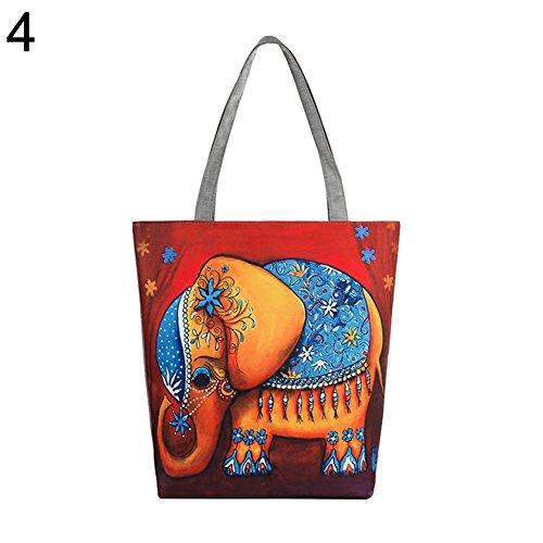Yonglh6c casual 4 per elefante borsa l'acquisto donna di tela 1 con etnico A8npAqrw