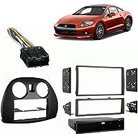 Fits Mitsubishi Eclipse 2006-2012 Single/Double DIN Harness Radio Dash Kit