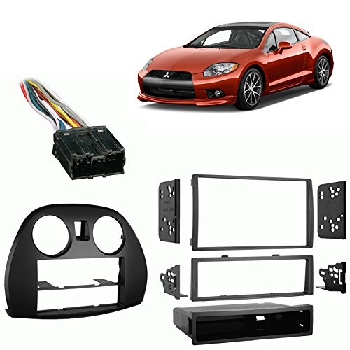 Fits Mitsubishi Eclipse 2006-2012 Single/Double DIN Harness Radio Dash -