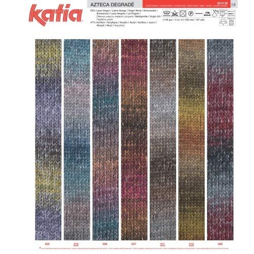Katia Azteca Lana FB 503 100/g Lana Degrade Degradado para Punto y Ganchillo