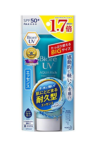 Biore Sarasara UV Aqua Rich Watery Essence Sunscreen SPF50+ PA+++ 85g (Essence) (Best Face Primer For Combination Skin 2019)