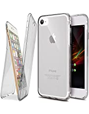 iPhone 6 Plus Case, iPhone 6S Plus Case, Ukayfe Crystal Clear voor en achter Silicone Phone Case voor iPhone 6 Plus / 6S Plus (5,5 inch) Geval 360 graden Full Body Cover Ultra dun TPU Silicone Case - Transparant Compleet Cover Shell Mobile Phone Case Protection Case Bumper in grijs