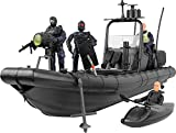 Click N' Play Military Elite Swat Unit Force Patrol Dinghy Boat 25 Piece Play Set with Accessories.