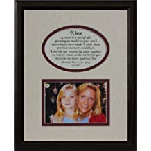 8x10 NIECE Picture & Poetry Photo Gift Frame ~ Cream/Burgundy Mat with BLACK Frame ~ Heartfelt Keepsake Picture Frame for a Niece from Aunt or Uncle for Christmas, Birthday or Wedding by PoetrybyJoyceBoyce.com
