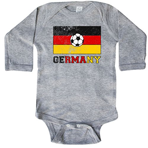 German Boy Clothes (inktastic German Soccer Long Sleeve Creeper 12 Months Heather Grey 2e202)