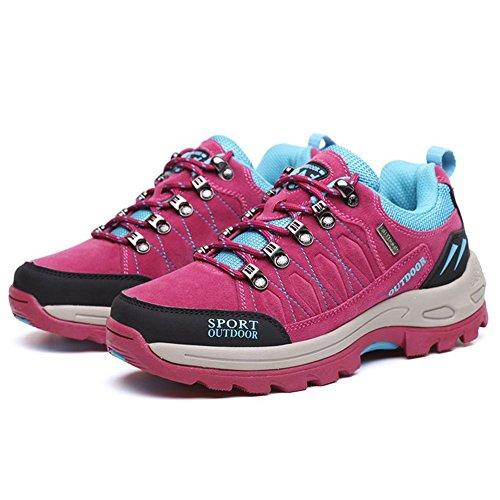 CYBLING Fashion Outdoor Mountaineering Walking Running Hiking Shoes for Women Rose r74zhPiW