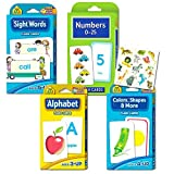 School Zone Flash Cards Super Set Toddler Kids -- 4 Packs (ABC Flash Cards, Numbers, Colors and Shapes, Sight Words, Stickers)