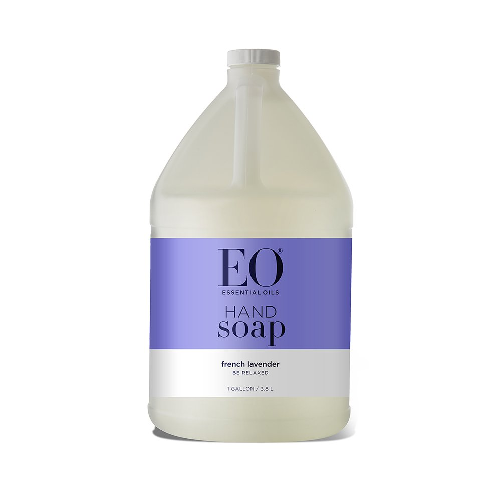 EO Botanical Liquid Hand Soap Refill, French Lavender, 128 Fluid Ounce (1 Gallon)