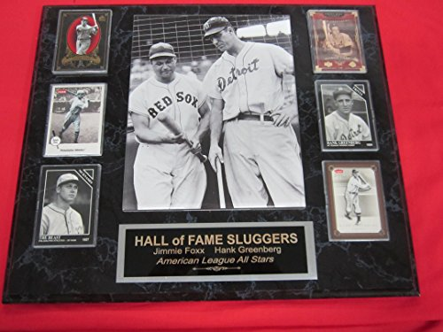 Jimmie Foxx Hank Greenberg 6 Card Collector Plaque w/8x10 Photo
