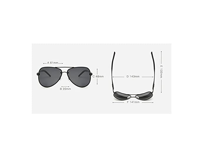 RFVBNM Gafas de sol de Aluminio con magnesio Gafas de Sol para Hombre polarizador de Moda Gafas de Sol de Moda al Aire Libre Gafas de Sol UV, ...