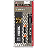 MAGLITE SP2P01H 2-AA Cell Mini Pro LED Flashlight W/Holster, Black - 272 LUMENS - Ultra Bright Fluke Logo by MagLite
