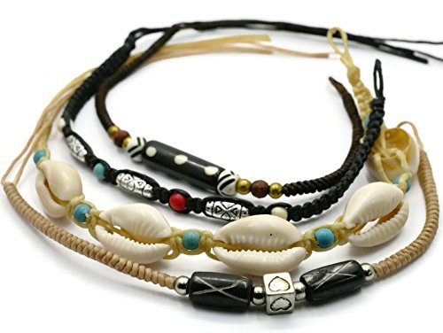 BrownBeans, Macrame Cord Reggae Summer Casual Wear Anklet Bracelet (CBCT7000) (H)