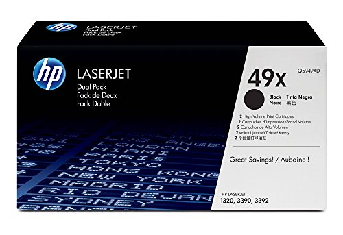 HP 49X (Q5949XD) Black High Yield Original LaserJet Toner Cartridges DISCONTINUED BY ()