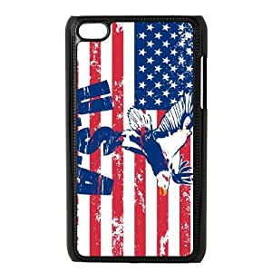 AKLPHONECASE American Retro Flag Pattern Plastic Case For Ipod Touch 4 [Pattern-2]