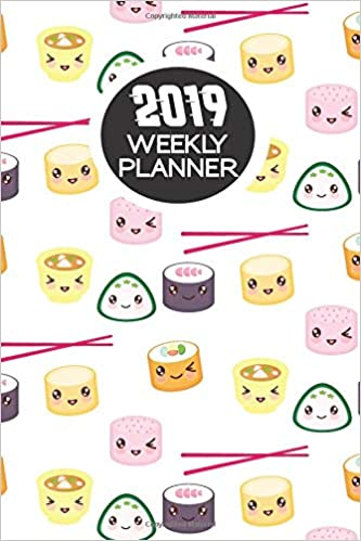 Amazon.com: 2019 Weekly Planner: Kawaii Sushi: Portable ...