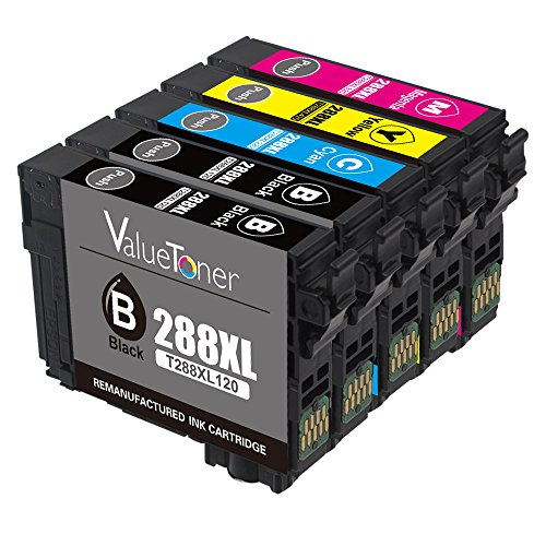 Valuetoner Remanufactured Ink Cartridge Replacement for Epson 288 288XL High Capacity for Expression Home XP-330 XP-340 XP-430 XP-440 XP-434 XP-446, 5 Pack (2 Black, 1 Cyan, 1 Magenta, 1 Yellow)