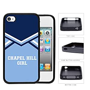 Chapel Hill City Girl School Spirit Cheerleading Uniform iPhone 4 4s Rubber Silicone TPU Cell Phone Case